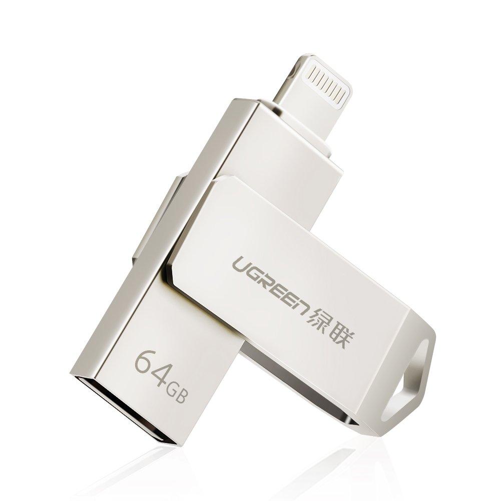 UGREEN Clé USB Lightning Stockage Mémoire MFI Certifié 2 en 1 Extension de Mémoire Compatible avec iPhone XS XS Mas XR X 8 7 6 5 Se, iPad Pro, iPad Air, iPad Mini, Ordinateur (32GB) Ugreen Group Limited FBA_30616