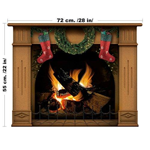 1318 Etiqueta de la pared - Chimenea de Navidad