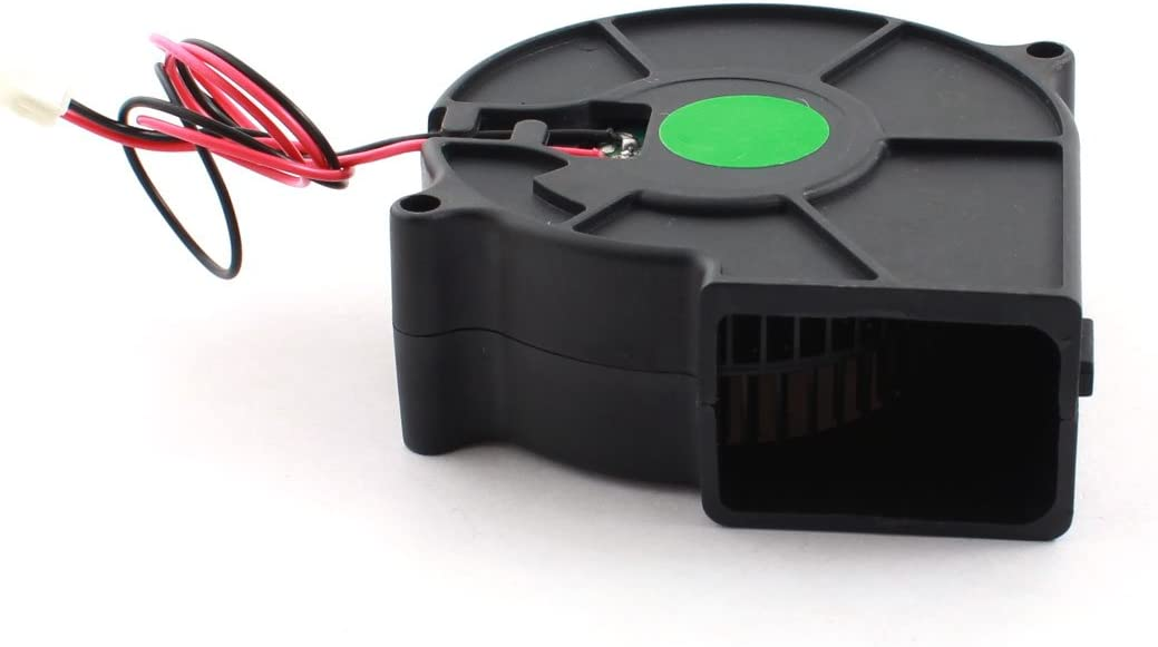 uxcell DC 12V Brushless Cooling Blower Axial Fan Cooler Black 75mm x 30mm