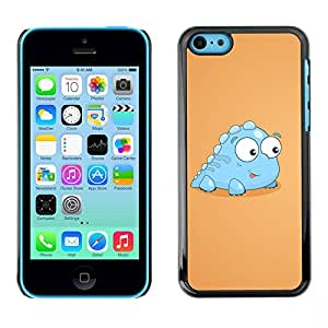 Carcasa Funda Prima Delgada SLIM Casa Case Bandera Cover Shell para Apple Iphone 5C / Business Style Funny Baby Dinosaur