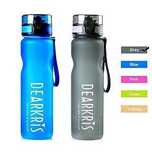 Large Sport Water Bottle 1L 36oz, Simple Modern BPA Free Tritan Water Bottle for Women Men(Grey)