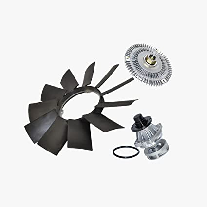 Water Pump (Metal Impeller) + Fan Clutch + Fan Blade kit for BMW E46