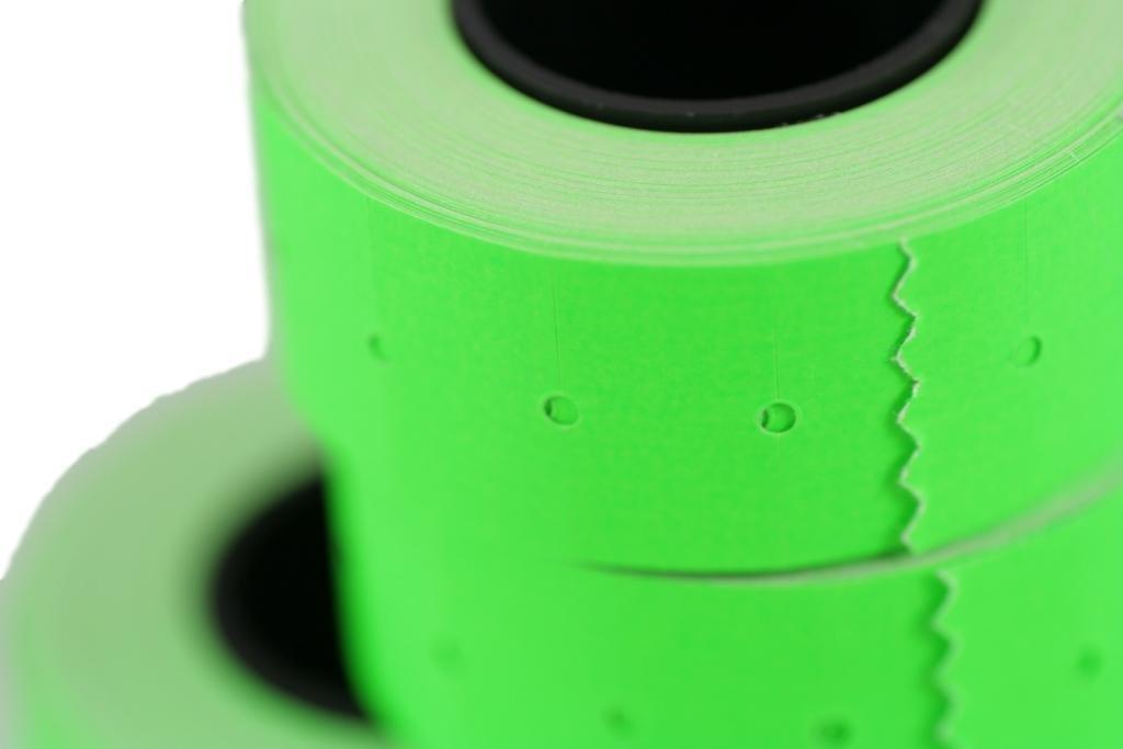 Rotoli Di Carta Colorata : Rotoli verde mm etichette di carta colorata sticker