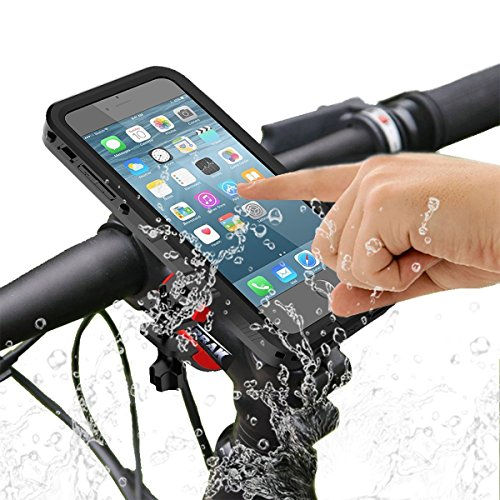 iPhone 7 Plus Bike Mount Waterproof Case, SGODDE One-button Released 360 Degrees Rotatable Shock Resistant IP68 Bicycle Mount Case for iPhone 7P
