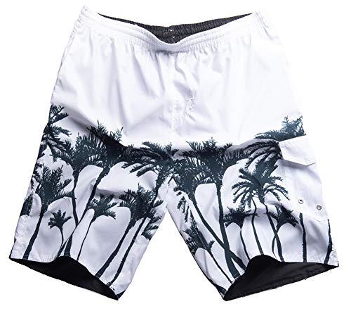 - MADHERO Men Swim Trunk No Mesh Lining Reversible Bathing Suit Boardshorts A Size M