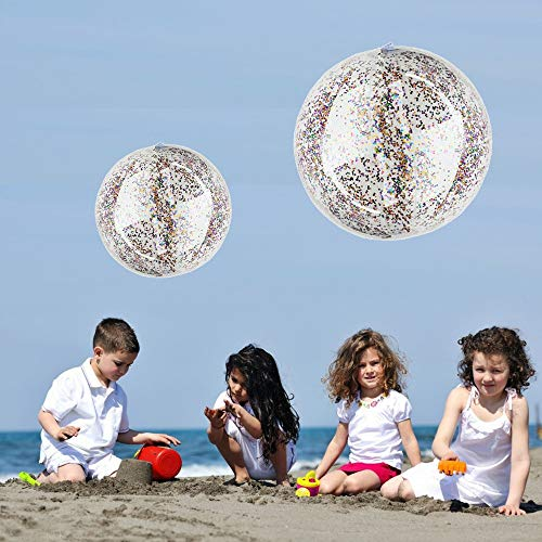 Maikouhai Beach Ball, Beach Ball Transparent PVC Ball Water Summer Funny Water Fun Play for Kids for Happy Time with Your Family -