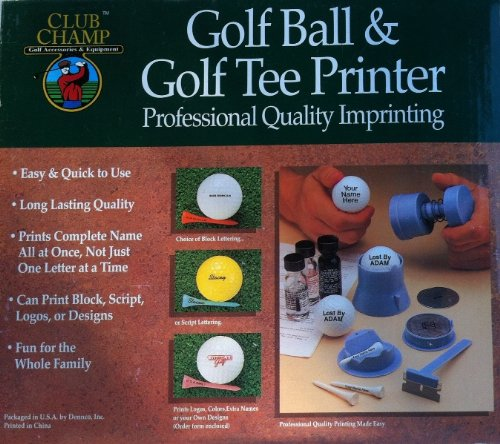 Club Champ Golf Ball & Golf Tee Printer