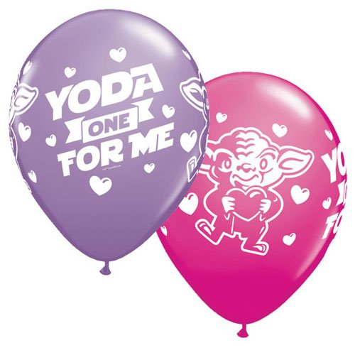 Qualatex Latex Balloons 46065-Q Star Wars: Yoda One For Me For Me, 11
