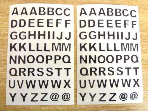 Klebeetiketten mit Buchstaben von A-Z, 9,5 mm, zugeschnitten, selbstklebend, Vinyl-Etiketten, Schwarz