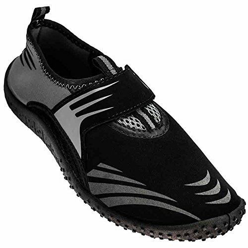 Rockin Footwear Herren Rockin Aqua Wave Wasserschuh Schwarz