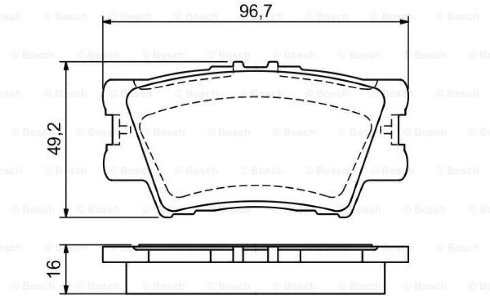 Bosch 0 986 494 154 Bremsbelagsatz Scheibenbremse 4 Teilig Auto