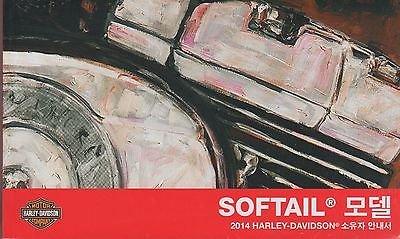 Download KOREAN 2014 HARLEY DAVIDSON MOTORCYCLE SOFTAIL P/N 99469-14K0 OWNER MANUAL (094) ebook