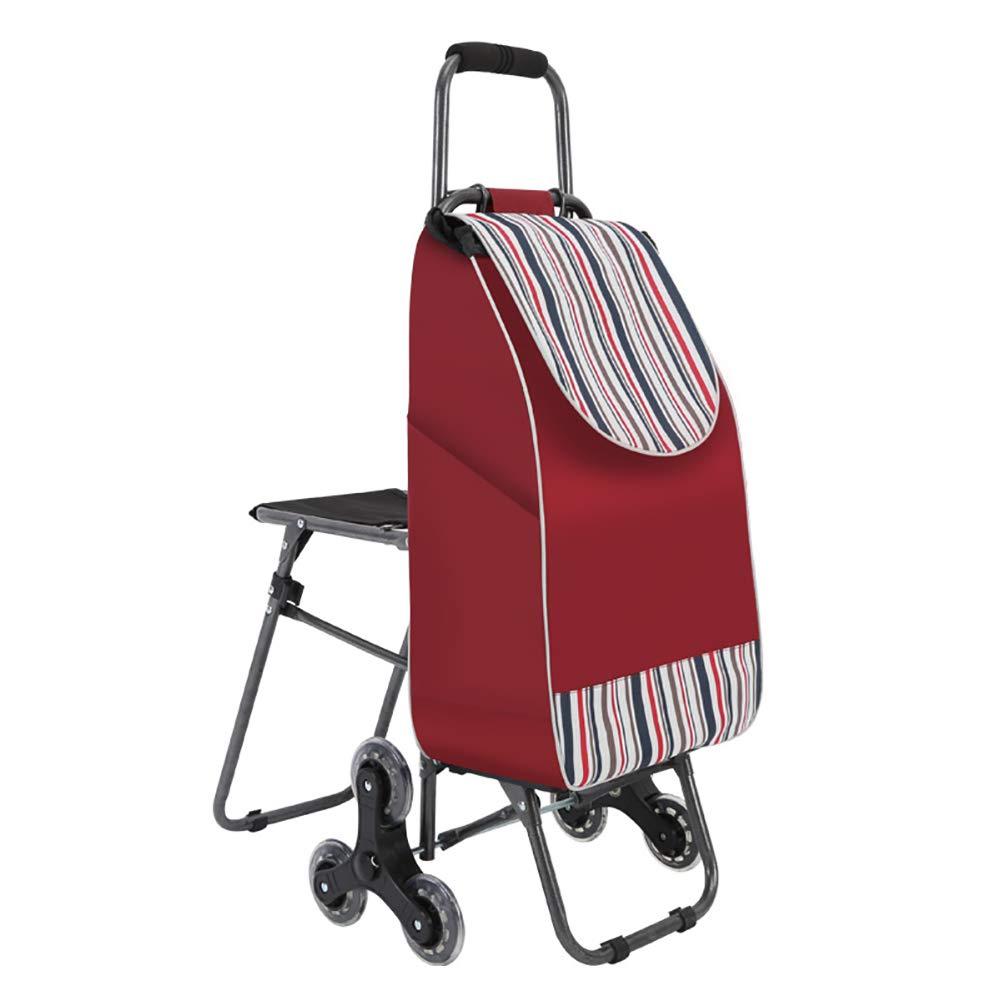 ショッピングキャリ ショッピングカート大容量トロリーライトフォールド6ホイール折りたたみ式ポータブル荷物カート (サイズ さいず : 25x57x90cm) 25x57x90cm  B07HBN5ZLS