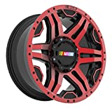 NASCAR N316 Gloss Red Wheel with Milled Rivets/Machine Face/Machine Lip (20 x 9''/5 x 150mm, 139.7mm, +15mm offset)