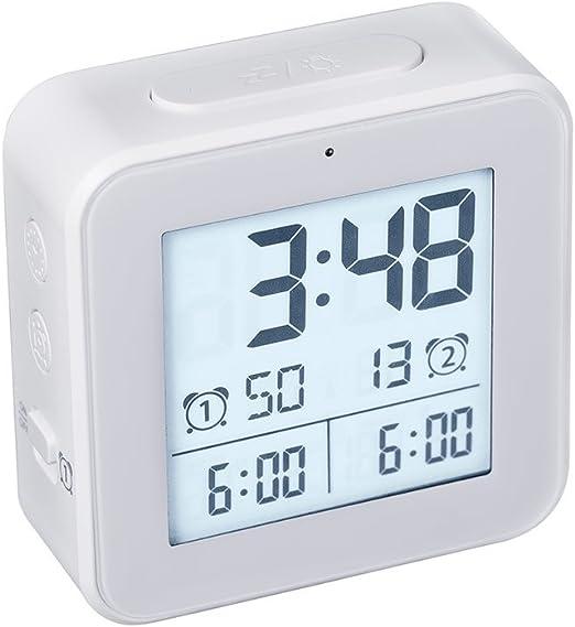 Balvi - Vision Despertador Digital. Doble Alarma. Funciona con 2 ...