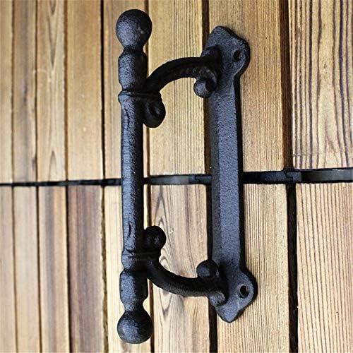 Tirador de puerta de metal Soltero Unico Resistente Vintage Sólido Hierro fundido Corredizo Puerta de granero Tirador Manija Barandilla de agarre - Diseño rústico industrial Adecuado para todo tipo de: Amazon.es: Hogar