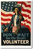 Don't Wait for the Draft - NEW Vintage Reprint Poster