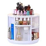 Glodeals Super Capacity 360°Rotating Cosmetics Organizer,Makeup Organizer,Jewelry Organizer (White)