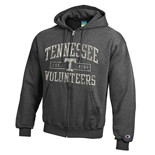 Champion NCAA Tennessee Volunteers Men's Men's Full Coverage Zip Hoodie, Medium, Heather - Jacket Tennessee Volunteers