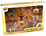 Wild Republic African Safari Eco Expedition, Elephant, Rhinoceros, Zebra, Leopard, Lion, Cheetah, Giraffe, Hippopotamus, Game Warden, Binoculars and Machete, 11 Piece Playset