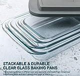 8-Piece Deep Glass Baking Dish Set with Plastic