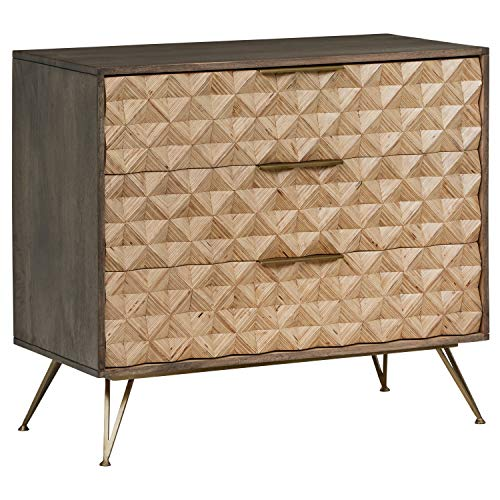 - Rivet Modern Chest of Drawers with Diamond Pattern 17.7