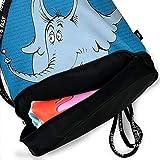 Oyomi Horton Hears A Who Drawstring Bag Rucksack Shoulder Bags Travel Sport Gym Bag Print - Yoga Runner Daypack Shoe Bags with Zipper and Pockets