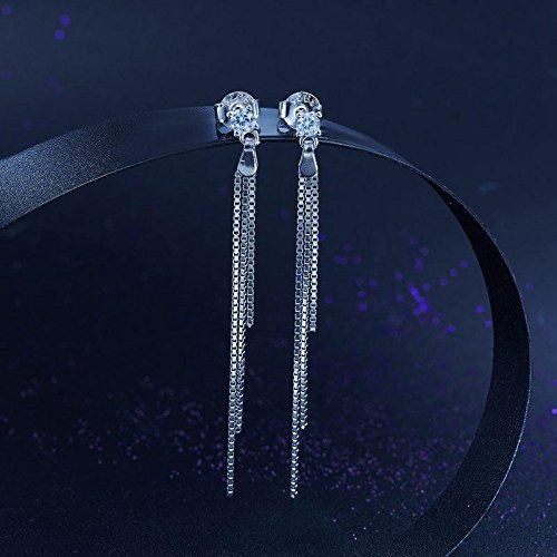 Exquisite Selebrity Drop Dangle Solid 925 Sterling Silver Earrings Fashion Wedding Bridesmaid Birthday Gift 8135