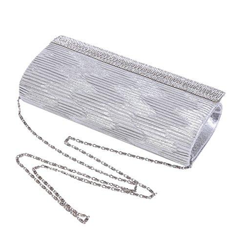 Gold Drilling Banquet Damara Wrinkle Magnetic Womens Evening Bag Snap wIqq78nrU