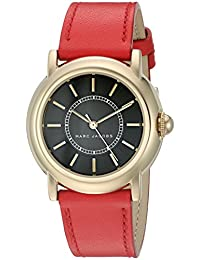 Marc by Marc Jacobs Women's 'Courtney' Quartz Stainless Steel and Leather Automatic Watch, Color:Red (Model: MJ1452)