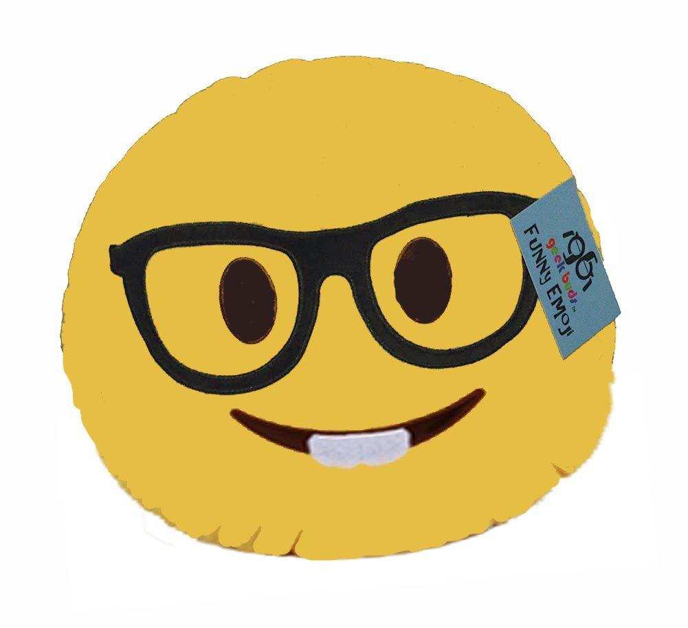 geekbuds Emoji Cojín afelpado suave, Nerd Face: Amazon.es: Hogar