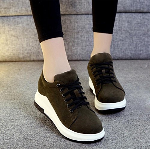 Herbst Ms Schuhen Spitze Aufzug Boden Freizeitschuh Schuhe runden Schuhe green Frau Muffin schweren mit g7nqgAvr