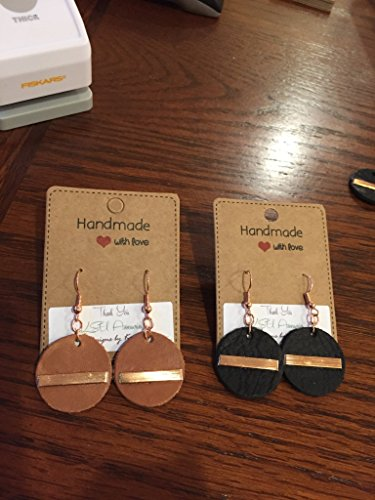 Leather Diffuser Earrings, Leather and Copper, Gift Idea, Joanna Gaines Inspired, Rustic handcut Black or Tan Leather, Drop Earrings, Essencial Oil Diffuser, Joanna Gaines Inspired