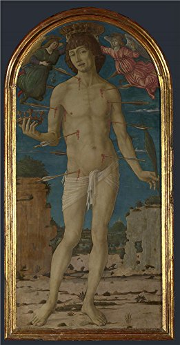Oil Painting 'Saint Sebastian 1480-95, Matteo Di Giovanni', 18 x 34 inch / 46 x 88 cm , on High Definition HD canvas prints is for Gifts And Foyer, Nursery And Study Room Decoration, pop (95% Copper Shield)
