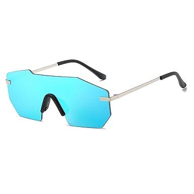 CVOO Polygon Sunglasses Men Color Coating Frameless Sunglasses Women Sunglasses REWhmkJ1K
