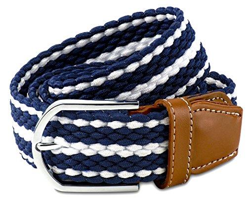 Blue Mens Belt - Men's Belts - Braided Stretch Cord Belt for Men - Size 38 ()