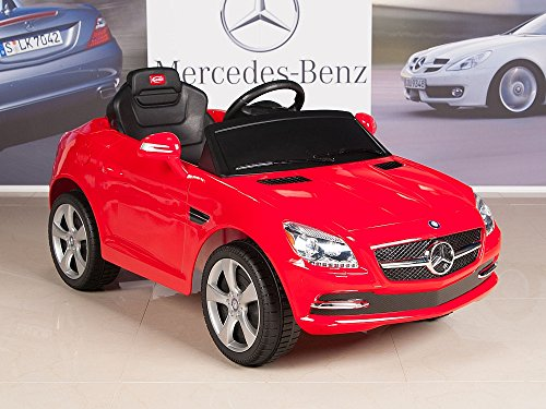 Kids ride on car mercedes benz slk350 6v battery powered for Mercedes benz service charges