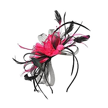 Haute For Diva Women Two Toned Ascot Fascinator - Black Pink  Amazon.co.uk   Beauty 4cb5f2db20c