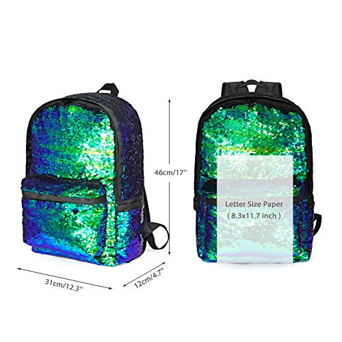 Reversible DIY Sequin Backpack for Girls Glitter School Backpack Child Kids Magic Sequence BackPack
