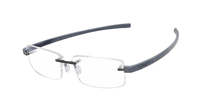 Amazon.com: Tag Heuer TH3941 013 Reflex 3 Rimless Frames Dark Gray ...