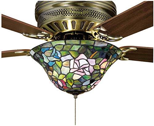 "Meyda Tiffany 27448 Rosebush Ceiling Fan Light Fixture, 12"" Width from Meyda Tiffany"