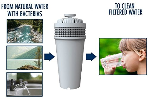 Water Bacteria Filter. Fits Wamery's Filtration kit. Cartridges to reduce bacteria & microorganisms. Clear water from kitchen faucets & natural sources. Filters suitable for kids by Wamery (Image #1)
