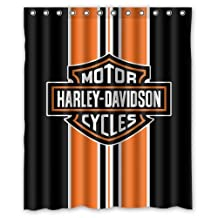 "Fashionable Bathroom Collection-Custom harley davidson Shower Curtain Bath Decor Curtain 60 "" x 72 """