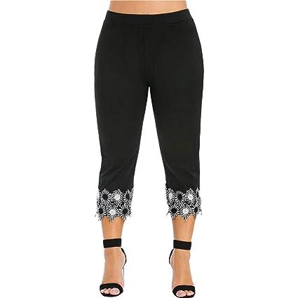 ABsoar - Leggings de gran tamaño, estilo casual, pantalones de ...