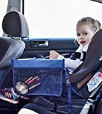 Tray Car Seat Snack And Play For Kids - Travel Table Portable Waterproof -Safety Child Good mood Size 40 x 34.4 x 23cm Dark Blue New