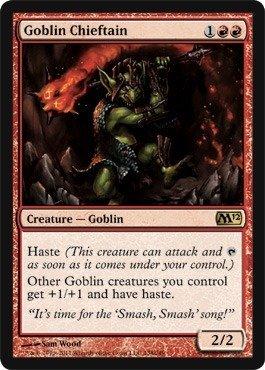 Magic: the Gathering - Goblin Chieftain - Magic 2012 - Foil