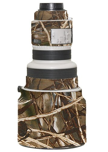 LensCoat Lens Cover for Canon 200 f/1.8 camouflage neoprene camera lens protection sleeve (Realtree Max4 HD) lenscoat