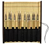 Jack Richeson Bamboo Brush Mat with Pro Art #4 Bamboo Brushes (12)