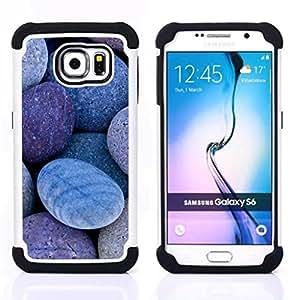 - Natural Stones Pebbles Beach/ H??brido 3in1 Deluxe Impreso duro Soft Alto Impacto caja de la armadura Defender - SHIMIN CAO - For Samsung Galaxy S6 G9200