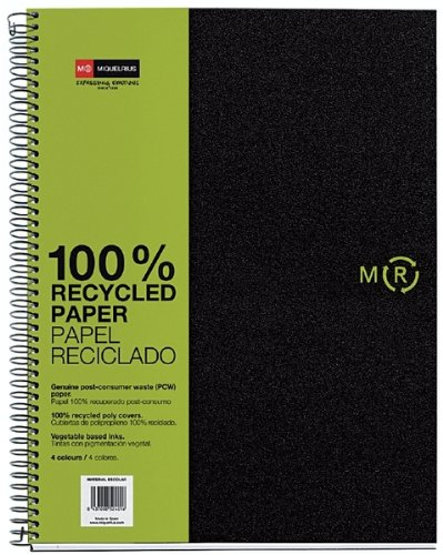 miquelrius-6-x-8-a5-recycled-wirebound-notebook-4-subject-graph-paper-black